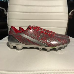 Under Armour Spotlight Red Football Cleat Size 9